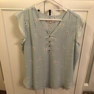 Dressy cap sleeve blouse